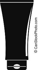 Uv tube cream icon, simple style - Uv tube cream icon....