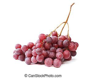 uva bianca, isolato, fondo