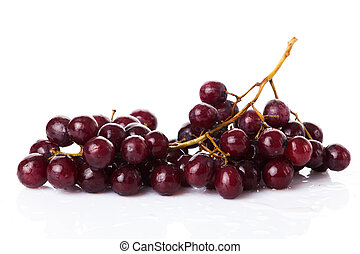 uva bianca, isolato, rosso
