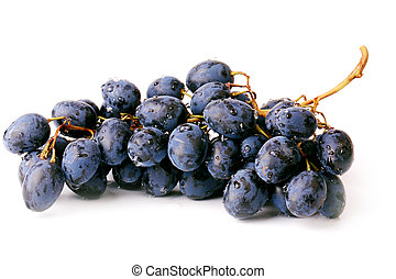 uva, bianco, nero, isolato, fondo