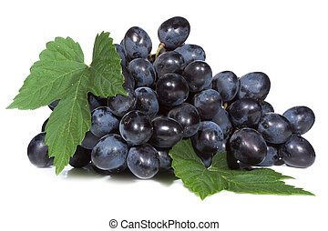 uva, con, hojas