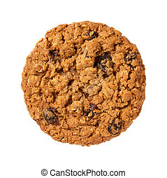 uva passa, biscotto, isolato, farina avena