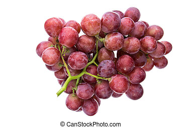 uva roja, aislado