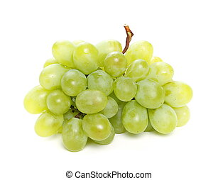 uvas, aislado, blanco