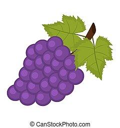 uvas brancas, fundo, grupo
