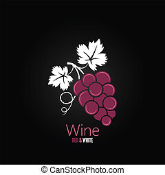 uvas de vino, diseño, menú, plano de fondo