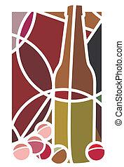 uvas rojas vino