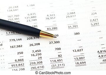 uważając, finansowy, dane
