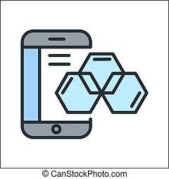ux, diseño, icono, color