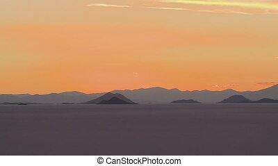 Uyuni Landscape After Sunset, Salt Flats, Bolivia
