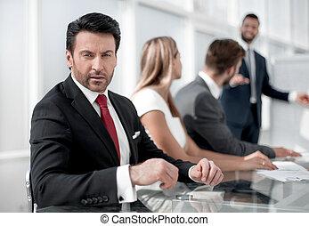 uzavřít, věnování, up.businessman, povolání