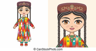 Uzbek girl in national costume