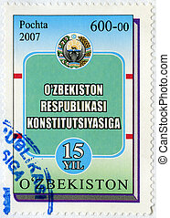 UZBEKISTAN - 2007: dedicated the 15th anniversary of the...