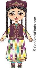 Uzbekistan. Historical clothes.