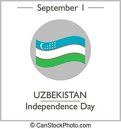 Uzbekistan Independence Day, September 1. Vector...
