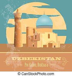 Uzbekistan infographics, statistical data, sights. Vector illustration