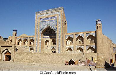 uzbekistan, khiva, madrassa