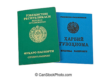Uzbekistan passport and Military ID