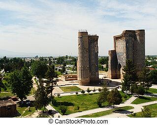 uzbekistan., ruinen, aq-saray, palast