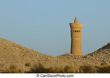 uzbekistan, sabbia, bukhara, deserto, minareto