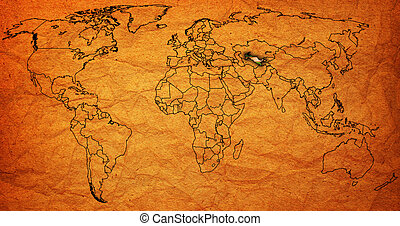 uzbekistan territory on world map