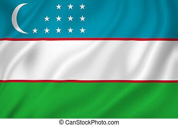 uzbekistan vlag