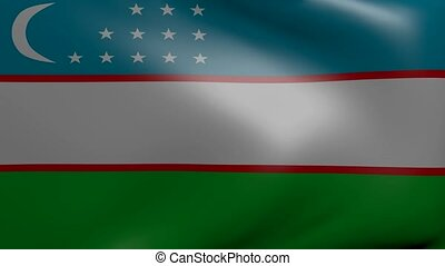 uzberkistan strong wind flag