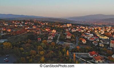 uzhhorod, ukraine, europa, kleine stadt, panoramisch,...