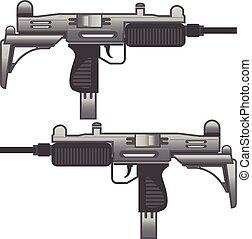 Uzi Gun Machine Metal vector