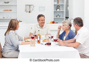 uzrát, průvodce, dobytí, oběd, dohromady