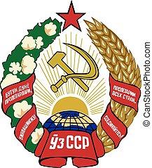 Uzssr coa - Various vector flags, state symbols, emblems of...