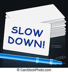 vá, mensagem, significado, slower, 3d, ilustração
