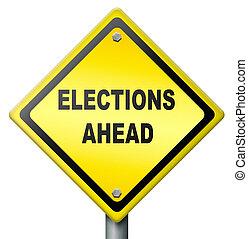 választások, előre
