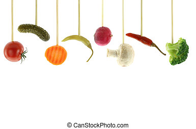 változatosság, közül, friss növényi