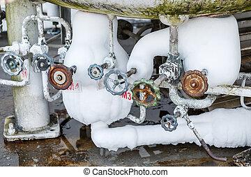 válvula, para, nitrogencontrol, em, fábrica