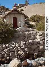 vályogtégla, templom