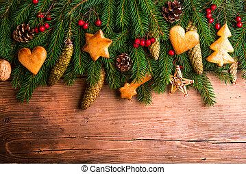 vánoce, composition., ateliér, shot.