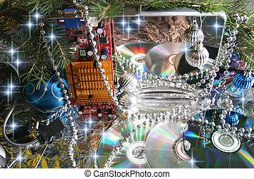vánoce, elektronika