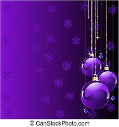 vánoce, fialový, barvy