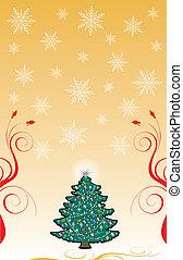 vánoce, grafické pozadí, 6