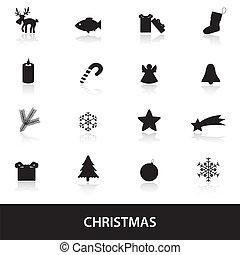vánoce, ikona, eps10