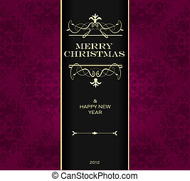 vánoce, pozvání, card.