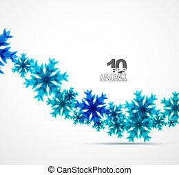 vánoce, sněhová vločka, grafické pozadí