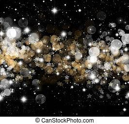 vánoce, zlatý hřeb, grafické pozadí