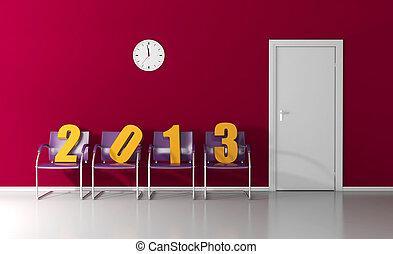 várakozás, 2013