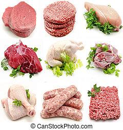 vário, carnes, mural