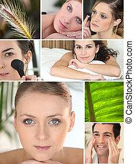 vário, cosmético, mosaico, tratamentos