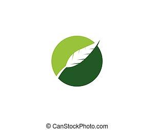 vário, folhas, branca, experiência., vecto, verde, ícone, isolado, plants., árvores, formas