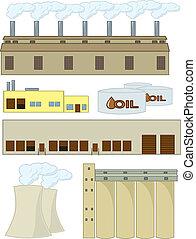 vário, industrial, estruturas