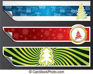vário, jogo, bandeira, natal
